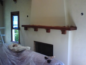 Southwestern style mantle finished