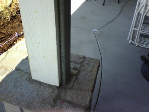 posts with exposed pipe