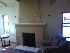 southwestern style mantle before